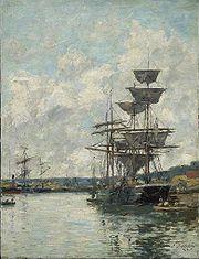 Le Havre par Eugène Boudin.